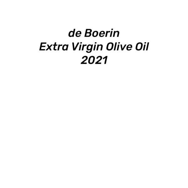 de Boerin Extra Virgin Olive Oil 2021